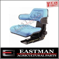 Mechanical Suspension Seat with Height Adjustment - Blue - Ford Tractor