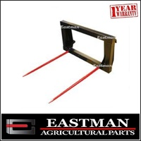 Hay Bale Forks Euro Quick Hitch Conus 2 1250mm Tines - Tractor Loader - Silage