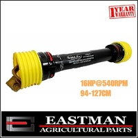Complete PTO Shaft - 16 HP - Quick Release Ends 94-127cm - Implement - Tractor