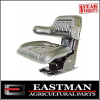 Universal Black Suspension Seat - Massey Ferguson - Ford - Tractor